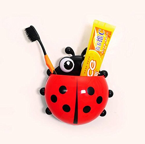 Amazon.com: LDTE OFFICE Lovely Ladybug Toothbrush Wall Suction Bathroom Sets Cartoon Sucker Toothbrush Holder/Suction Hooks: Home & Kitchen