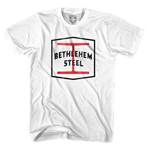 Bethlehem Steel Football Club T-shirt, White, - Bethlehem Steel
