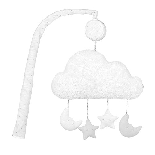 Just Born Sparkle Musical Mobile, Gray - And Moon Stars Nursery Bedding