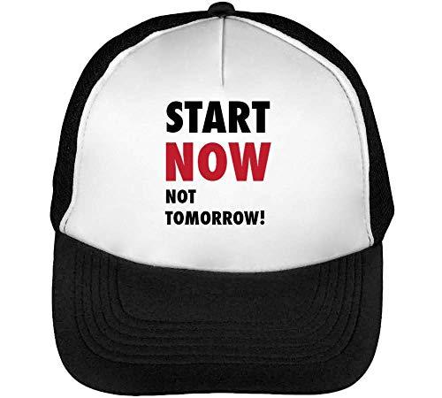 Blanco Now Start Beisbol Negro Gorras Not Tomorrow Hombre Snapback O8OAvxq