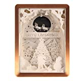 Papercut Light Boxes,Decor Lamp of Christmas Love Style 3D Shadow Box USB Charging - (Merry Christmas)