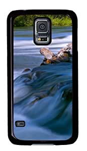 Flowing water Custom Samsung Galaxy S5/Samsung S5 Case Cover Polycarbonate Black