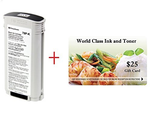 Genuine Original Pitney Bowes Brand 78P-K Extra Large Black Postage Ink Cartridge (Production) for Connect+ 1000/2000/3000 Plus Series Postage Machines + a FREE $25 Restaurant Gift Card. by Genuine Original Pitney Bowes Brand