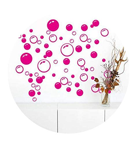 43Pcs/Set Bubbles and Circles Removable L Home Decoration Wall Stickers Kids Room Bathroom Waterproof Sticker,Orange -