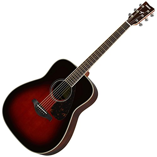Yamaha FG830 Solid Top Acoustic Guitar, Tobacco Sunburst