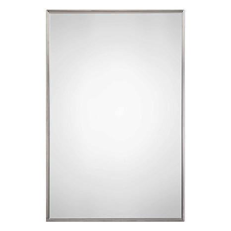 Amazon.com: Espejo de acero inoxidable cepillado Metro: Home ...