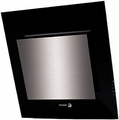 Fagor 3CFT-MINI TILE - Campana (Canalizado, 605 m³/h, Montado en pared, Halógeno, Negro, Plata, 1 piezas): Amazon.es: Hogar