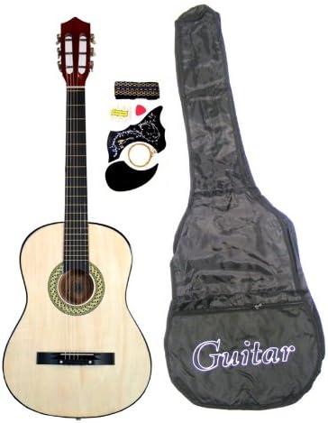 Principiantes de guitarra acústica con funda para guitarra, correa, afinador y púa y DirectlyCheap (TM) azul translúcido Medio púa de guitarra: Amazon.es: Instrumentos musicales