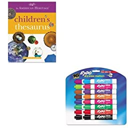 KITHOU1472086SAN81045 - Value Kit - HOUGHTON MIFFLIN COMPANY American Heritage Children\'s Thesaurus (HOU1472086) and Expo Low Odor Dry Erase Markers (SAN81045)