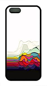 iPhone 5 5s Case, Slim Thin Shockproof Abstract Colorful Drape Fun IP5 Case fit for iPhone 5 5s Ultra Protective Back Rubber Cover Impact Protection for iPhone 5 5s (Black)