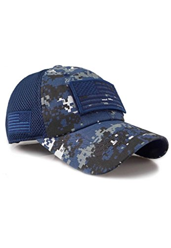 Micro MeshTactical Operator Forces USA Flag Patch Baseball Cap (Digital Navy)