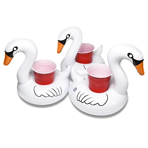 GoFloats Floating Swan Drink Holders (3 Pack), Float Your Drinks in Style -