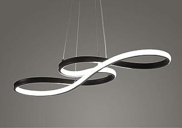 Cy led lumière pendante moderne note de musique acrylique lustre