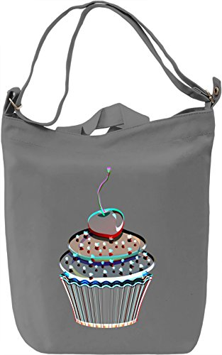 Cherry Cupcake Borsa Giornaliera Canvas Canvas Day Bag| 100% Premium Cotton Canvas| DTG Printing|