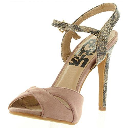 Zapatos de tacón de Mujer REFRESH 63496 ANTELINA NUDE