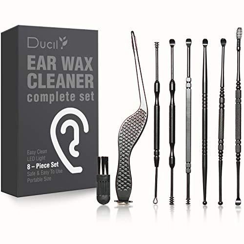 Ear Wax Removal Kit, 8 Types Earwax Removal Tools, Ear Cleaner, Safe and Easy Ear Wax Remover for Home, Complete Ear…