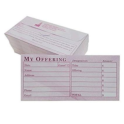 Custom Iglesia Offering/diezmos donación sobres, burdeos, Tab, de ...