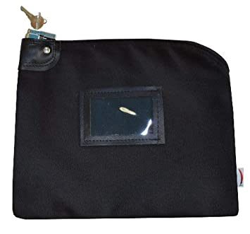 97043761e3bb Locking Bank Bag Canvas Keyed Security Black by Cardinal Bag ...