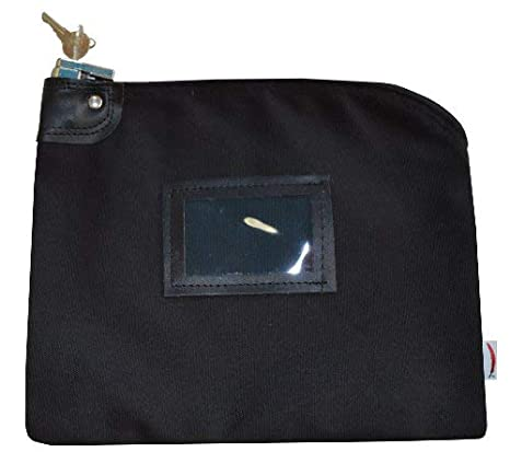 a6448cf2fcdbbd Amazon.com : Locking Bank Bag Canvas Keyed Security (Black) : Cash Register  Bags : Office Products