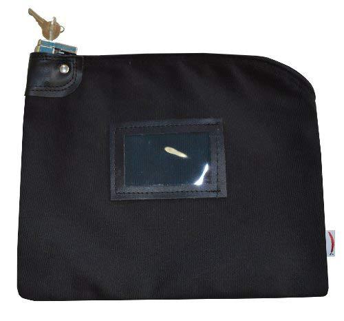 Locking Bank Bag Canvas Keyed Security ()
