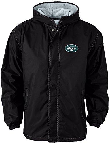 Jacket Jets (Dunbrooke Apparel NFL New York Jets Legacy Nylon Hooded Jacket, X-Large, forest)