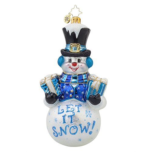 Christopher Radko Frosty Greetings Snowman Glass Christmas Ornament - 6