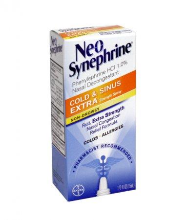 Neo-Synephrine Extra Strength Spray 0.50 Ounce (Pack of 4)