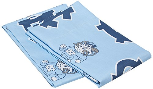 College Covers North Carolina Tar Heels Pillowcase Pair - Solid (Includes 2 Standard Pillowcases) ()