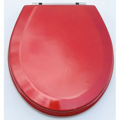 Trimmer Premium Metallic Red Wood Toilet Wood Seat. by Trimmer