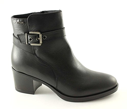 IGI CO 48640 Black Shoes Woman Ankle Boots Leather Zip Nero gEAOScGg