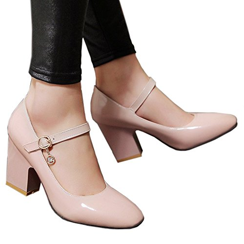 Plus 39 Square Last W ork cut camel Size Heel Shoes Low Buckle Small Fz7w6