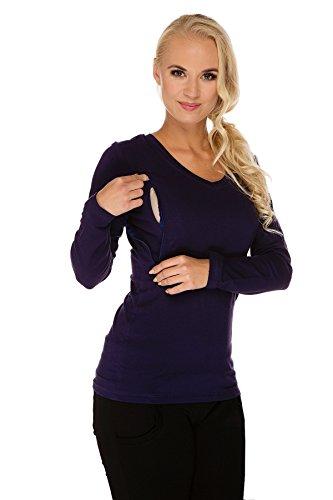 My Tummy Maternité blouse pour l'allaitement bleu marine