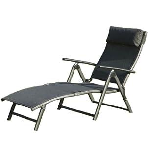 Beautiful Havana Folding Sun Lounger   Black Cushion Part 5