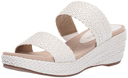 - Anne Klein Women's Zala Wedge Sandal, White, 8.5 M US