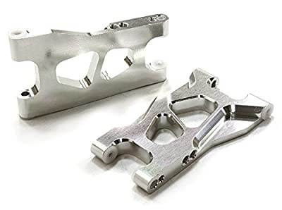 Integy RC Hobby C26513SILVER Billet Machined Lower Suspension Arms for TRX LaTrax Teton 1/18 Monster Truck