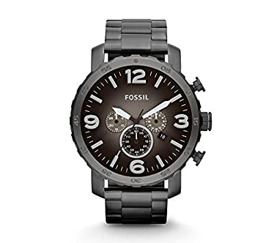 Fossil Men's Nate Smoke Bracelet and Gunmetal Dial Watch