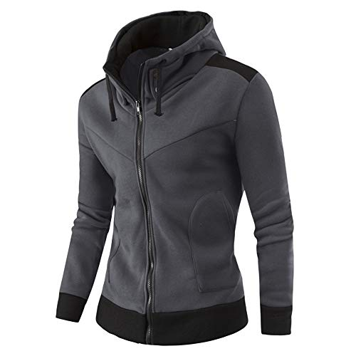 Inverlee-Mens Autumn Winter Warm Casual Zipper Long Sleeve Hooded Coat Top Blouse Jacket
