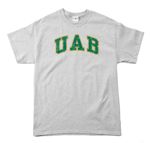 (NCAA Alabama Birmingham Blazers 100-Percent Pre-Shrunk Vintage Arch Short Sleeve Tee, Medium, Sport)