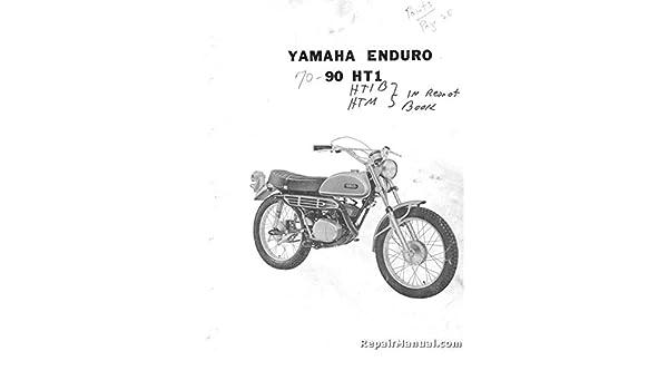 R Yam P 90ht1 1970 Yamaha Ht1 Motorcycle Parts List Parts Manual