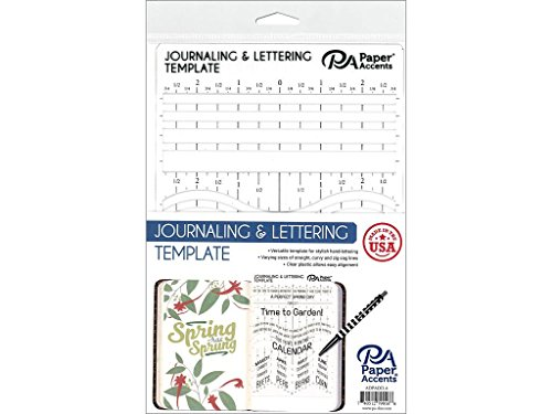 Paper Accents Journaling & Lettering Template Plastic 6 x 9 (6x9 Template)