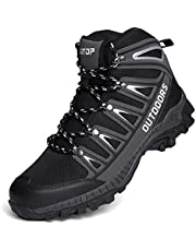 Mens Hiking Boots Waterproof Womens Hiking Shoes Backpacking Ladies Lightweight Trekking Shoes Trail Mountaineering Outdoor Climbing Camping Walking Boots