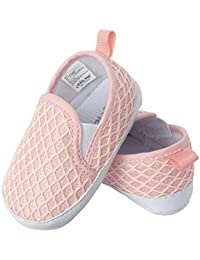 Slip-On Faux Knit Twin Gore Baby Girl Shoes; Cute and Trendy