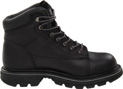 Caterpillar Mens Valor Mr Punta Dacciaio Stivale Nero