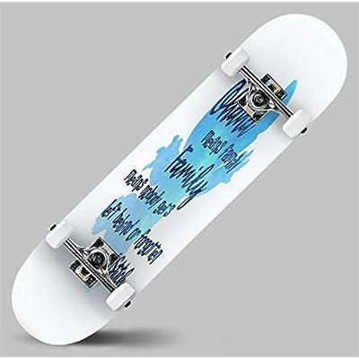 Cuskip Ohana Means Family Skateboard Complete Longboard 8 Layers Maple Decks Double Kick Concave Skate Board, Standard Tricks Skateboards Outdoors, 31
