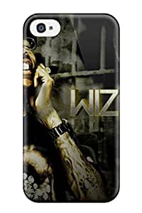 New Fashion Premium PC Case Cover For Iphone 4/4s - Artistic Wiz Khalifa By Sbm Dclodt WANGJING JINDA