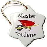 Christmas gift Master Gardener Gardening Wheelbarrow Porcelain