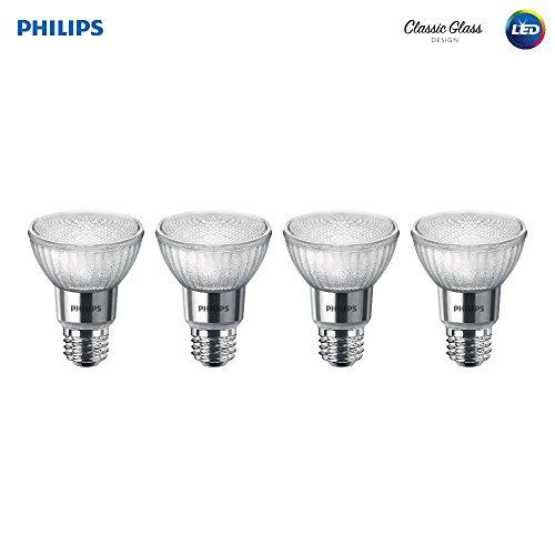 Philips LED Classic Glass Dimmable PAR20 40-Degree Spot Light Bulb: 500-Lumen, 5000-Kelvin, 7-Watt (50-Watt Equivalent), E26 Base, Daylight, ()