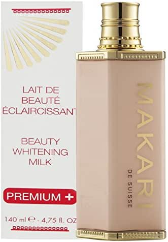 Makari Classic Premium+ Beauty Skin Whitening BODY Milk 4.75 fl.oz – Intense Lightening, Brightening & Toning Body Lotion – Daily Moisturizing Treatment for Dark Spots, Acne Scars & Hyperpigmentation