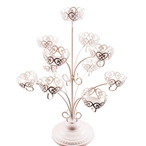 Vosarea Cupcake Stand 3-Tier 11 Cup Iron Cake Display Stand Decoration Wedding Birthday Partyfor Wedding Birthday Party by Vosarea (Image #5)