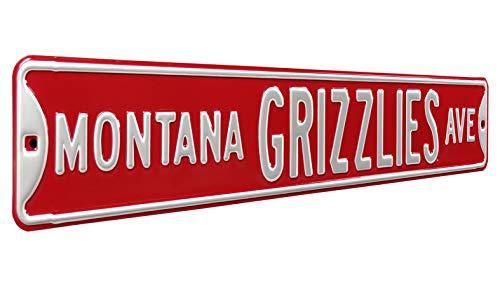정통 거리 표지판 70006MONTANA GRIZZLIES AVE 헤비 듀티 금속 거리 표지판 벽 장식 36X6